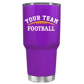 TREK Custom Football Team on Purple 30 oz Tumbler Cup