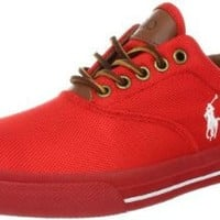 Polo Ralph Lauren Men's Vaughn Nylon Sneaker, Africa Red, 10.5 D US