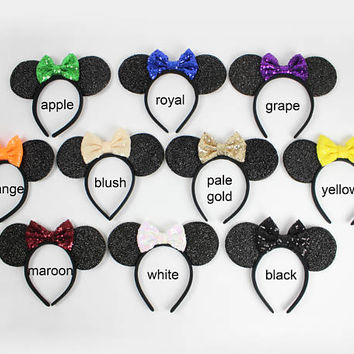 Disney ears | Minnie Mouse ears | Minnie ears headband | Disneyland ears | Mickey Mouse ears | Rose Gold Minnie ears | Choose color