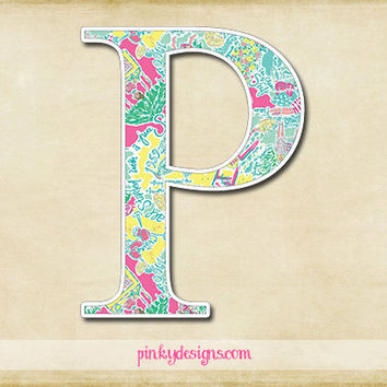 Lilly Inspired Single Initial Decal