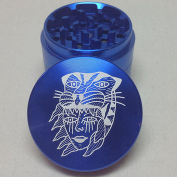 Tiger Headdress Grinder - Blue 55mmØ - Artist Original