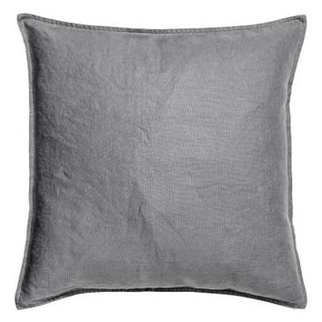 Washed linen cushion cover - Grey - Home All | H&M GB