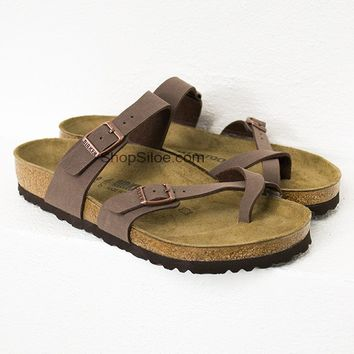 Mocca Criss Cross Birkenstocks | Best Seller