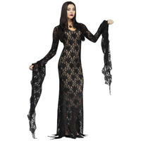 Fun World Womens Miss Darkness Halloween Party Dress Costume