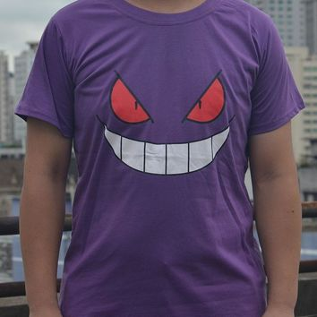 Men's  go Gengar cotton short sleeve t shirt casual t shirtsKawaii Pokemon go  AT_89_9
