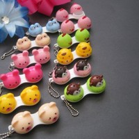Small Adorable Contact Lens Case One Piece with Bonus