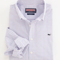 Men's Slim Fit Sport Shirts:  Check Button Down Shirt - Whale Collection– Vineyard Vines