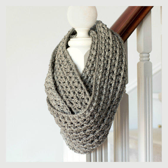 Basic Chunky Infinity Scarf Pattern from FavouriteThingsShop on