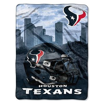 "Houston Texans NFL Heritage 50""x 60"" Silk Touch Raschel Throw"