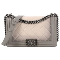 Chanel Boy Flap Bag Quilted Ombre Calfskin Old Medium