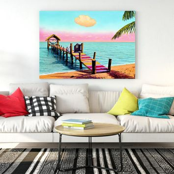 Colorful Seascape Posters And Prints Beach Landscape Wall Art Living Room Decoration For Bedroom Canvas Wall Pictures Paniting