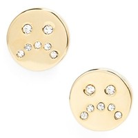 Women's MARC BY MARC JACOBS 'Key Items' Sad Stud Earrings - Oro