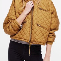 Free People Easy Quilted Bomber