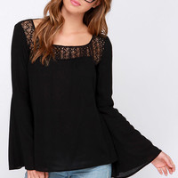 Bell Tolls Black Lace Top
