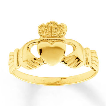 Women's Claddagh Ring 14K Yellow Gold