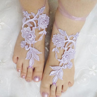 beach shoes, beach fashion, bridal sandals, lariat sandals, wedding bridal, barefoot sandles, lilac accessories, wedding shoes, summer wear