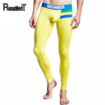 Flag Style Male Winter Thermal Underwear Men Cotton Sexy Long Johns Homens Men's Fashion Tight Legging Underpants Sheer Pants