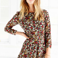 Lucca Couture Floral Chiffon Long-Sleeve Romper - Urban Outfitters