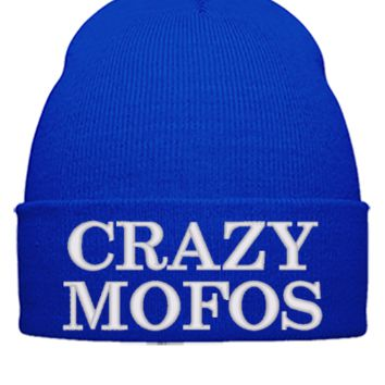 crazy mofos Bucket Hat, - Beanie Cuffed Knit Cap