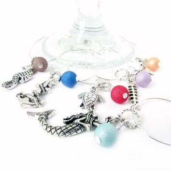 Beach Style Wine Glass Charms