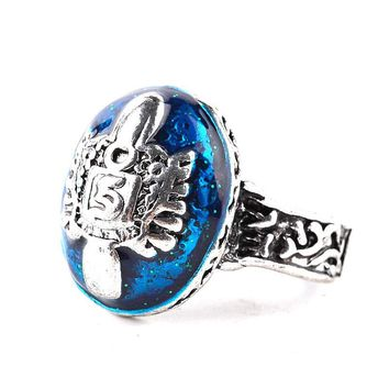 New Arrival Movie Jewelry Vintage Vampire Diaries Rings Salvatore Damon Stefan 's Punk Rings For Women&Men Christmas Gifts