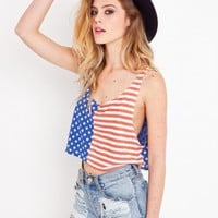Stars And Stripes Crop Tank | NASTY GAL | Jeffrey Campbell shoes, Evil Twin, MinkPink, BB Dakota, vintage dresses + more!