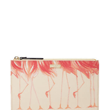 Kate Spade Strut Your Stuff Flamingo Medium Bella Pouch Strut Your
