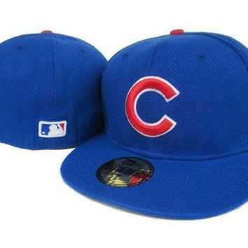Chicago Cubs New Era 59fifty Mlb Cap Blue Red