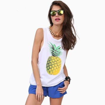 Pineapple Dreamin Tank Top Shirt for Women
