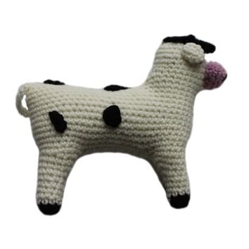 Knit Cow Baby Rattle