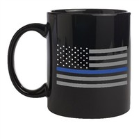 Thin Blue Line Black Flag Mug