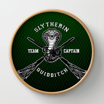 Harry potter Slytherin quidditch team Decorative Circle Wall Clock Watch by Three Second