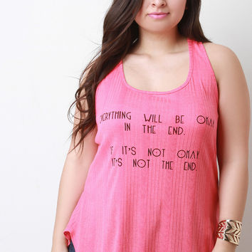 Everything Will Be Okay Graphic Print Tank Top