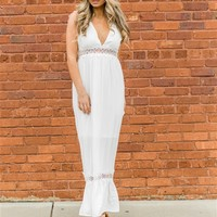 Couldn't See Deep V Neck Crochet Detail Sleeveless