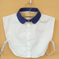 FASHION WOMEN FAKE SHIRT COLLAR DOTS DETACHABLE COLLAR ETON COLLAR ROUND COLLAR APPAREL ACCESSORIES
