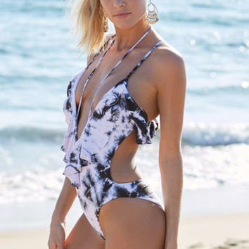 Blue Life Swim Ruffled Romance One Piece Swimsuit at PacSun.com