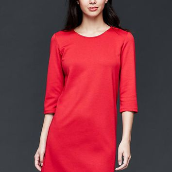 Gap Women Ponte Three Quarter Sleeve Shift Dress