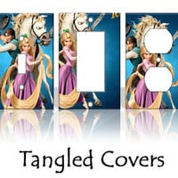 Tangled Disney Light Switch Covers Wallplates Switchplates Home Decor Outlet 14 STYLES AVAILABLE