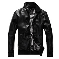 Male Leather Jacket Excellent Hombres