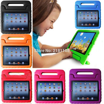 Kids ShockProof Safe Foam Case Handle Cover Stand for iPad Air2/Pro9.7inch/iPad2 3 4th For iPad mini1 2 3