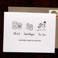 Matches Made In Heaven Wedding Card