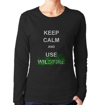 Keep calm and Use Wildfire Women Longsleeve Tshirt