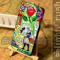 beauty and the beast - iPhone 4/4s/5/5s/5c Case - Samsung Galaxy S3/S4/S3-mini Case - Black or White