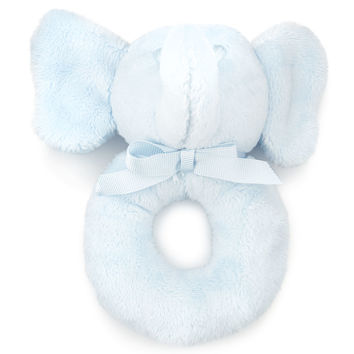 Plush Elephant Rattle, Blue - Ralph Lauren Childrenswear