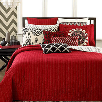 INC International Concepts Bedding, Ikat Quilted Coverlet Collection - Quilts & Bedspreads - Bed & Bath - Macy's