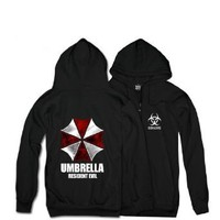 Amazon.com: Men Black Resident Evil Biohazard Umbrella Long Sleeve Hoodie Cosplay Costume Top Coat Jacket: Clothing