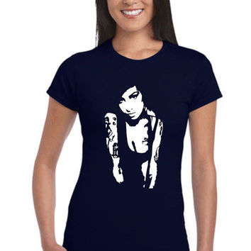 Amy Winehouse T-Shirt, Iconic amy t-shirts, music, tees, womens music,