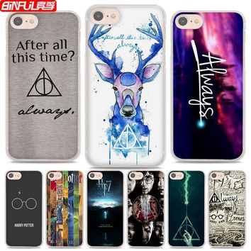BiNFUL Hot Sale Harry Potter always style hard clear Phone Cases Cover for Apple iPhone 8 8Plus 7 7Plus 6s 6Plus X 5 5s 4s