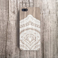 WEDDING iPhone case lace iPhone 4 case iPhone 4s case designer iphone case wood iPhone 5s case white iphone 5 case boho