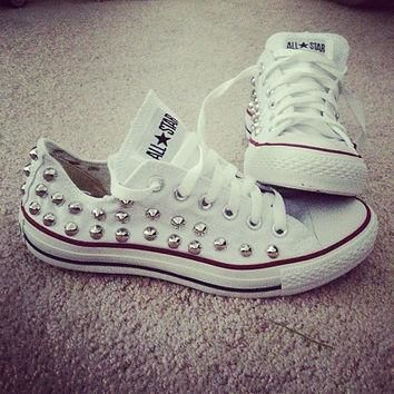semi spike studded converse or round studs